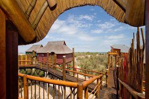 uitzicht vanuit kamer - The Stiltz - Swakopmund - Namibië