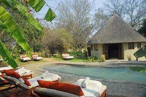 zwembad van Divava Okavango Resort - Divava Okavango Resort - Namibië