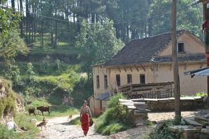 dorpje tijdens trekking - Kathmandu Vallei - Nepal