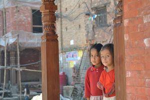 kinderen in Bhaktapur