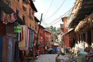 straatje in Bhaktapur