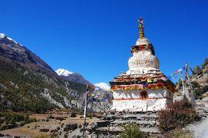 Boeddhistische stupa in Annapurna regio - Nepal