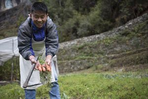Phakding Yeti Mountain Home moestuin man - Nepal
