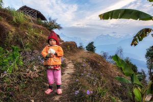 Sarangkot meisje - Sarangkot - Nepal