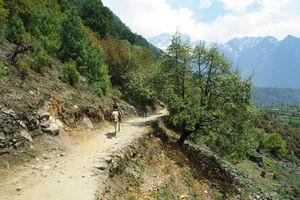trek tussen Monjo en Lukla - Nepal