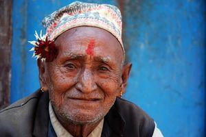 Portret man - Nepal