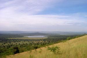 uitzicht op meer - Lake Mburo National Park - Oeganda