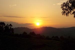 kibale zonsondergang