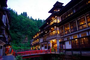 onsen buitenkant - Ginzan Onsen - Japan - foto: flickr