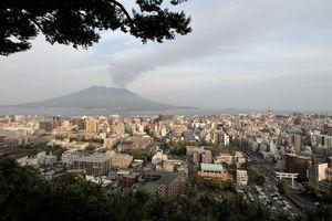 panorama van het stadsbeeld - Kagoshima - Japan - foto: flickr