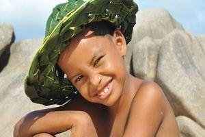 Jongetje met hoed - Seychellen