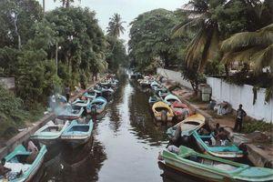 Kanaal met bootjes - Negombo - Sri Lanka