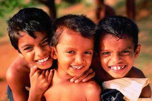 lokale kinderen - Negombo - Sri Lanka