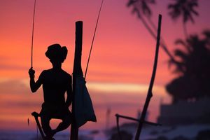 Sri Lanka sunset visser - Sri Lanka
