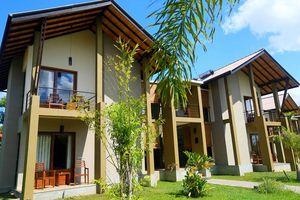 vooraanzicht van Chandrika Hotel in Tissamaharama - Chandrika Hotel - Sri Lanka