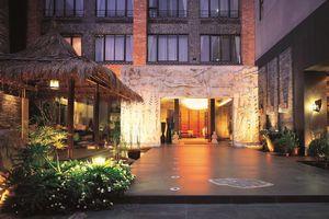 Entree van het Einhan Resort in Sun Moon Lake - Einhan Resort - Taiwan