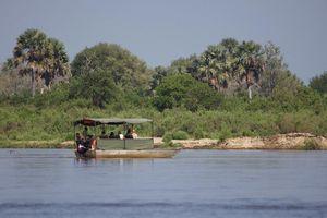 Boot bij Rufiji River Camp - Rufiji River Camp - Tanzania