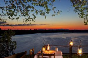 Bush dinner - Rufiji River Camp - Tanzania