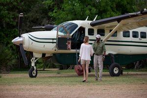 Vlucht per light aircraft - Rufiji River Camp - Tanzania