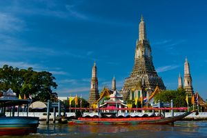 tempel in Wat Arun - Thailand