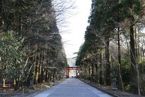 tempel met tori - Kagoshima - Japan - foto: flickr