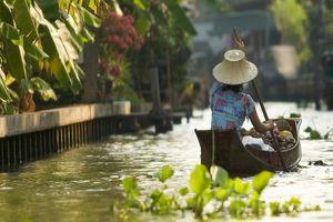 boot in kanaal - Bangkok - Thailand