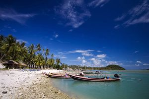 Strand met bootjes Koh Samui - Koh Samui - Thailand