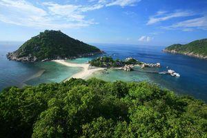 Verbinding twee eilanden,  Koh Tao - Thailand