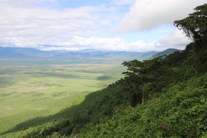 uitzicht - Ngorongoro Crater - Tanzania - foto: Martijn Visscher