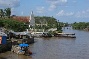 Vietnam - Mekong Delta - uitzicht over de delta