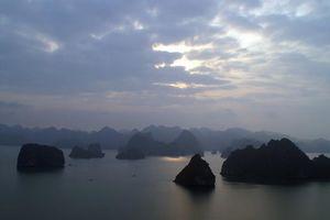 Halong Bay 's avonds - Halong Bay - Vietnam