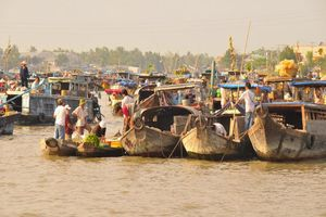 drijvende markt - Mekong Delta - Vietnam