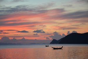 zonsondergang in Koh Pha Ngan - Thailand