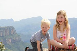 Yuna en Sen blyde rivier canyon - Panoramaroute - Zuid-Afrika - foto: Esther van den Berg