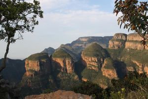 Three rondavels - Panoramaroute - Zuid-Afrika
