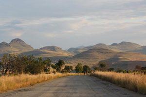 weg met uitzicht panoramaroute - Panoramaroute - Zuid-Afrika