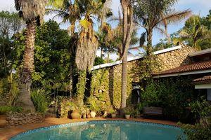 zwembad en palmbomen The Sabie Townhouse - The Sabie Townhouse - Zuid-Afrika - foto: Martijn Visscher