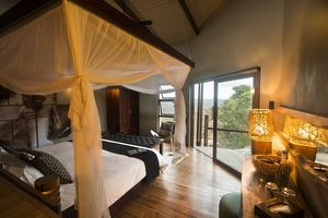 interieur safari kamer Rhino Ridge in Hluhluwe - Rhino Ridge - Zuid-Afrika