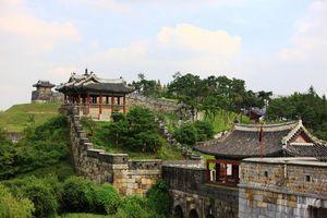 Suwon Hwaseong Fort muur - Suwon - Zuid-Korea