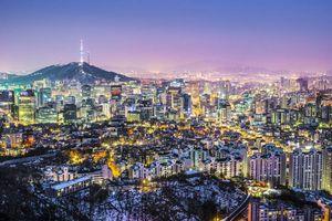 Stad in de nacht, skyline, Seoul - Zuid-Korea