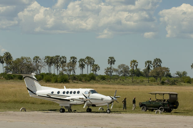 Light aircraft in Botswana