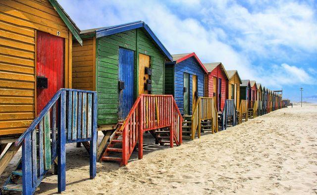 strandhuisjes Muizenberg - Zuid-Afrika