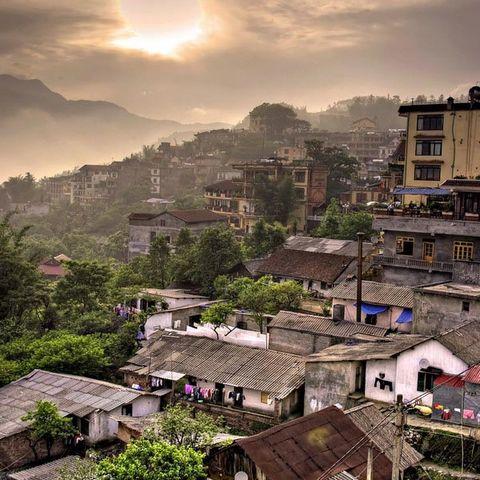 Sapa stad - Sapa - Vietnam